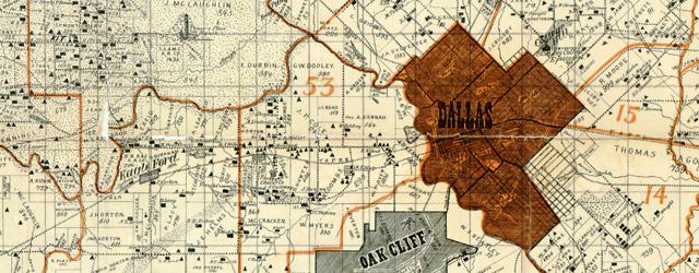 Sam Street's map of Dallas County, Texas wide thumbnail image