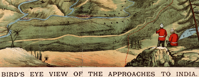 Letts's bird's eye view of the approaches to India  wide thumbnail image