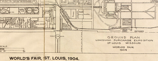 World's fair, St. Louis, 1904: ground plan Louisiana Purchase Exposition wide thumbnail image
