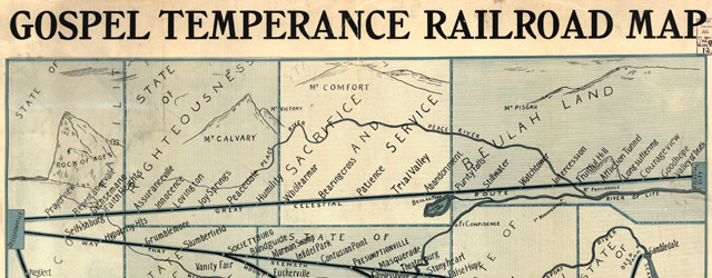 Gospel temperance railroad map wide thumbnail image