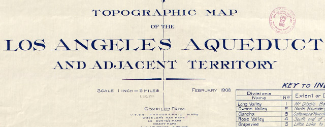 Topographic map of the Los Angeles aqueduct and adjacent territory  wide thumbnail image
