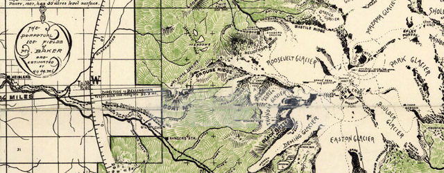A map of Mt. Baker, Wash. (1912)  wide thumbnail image