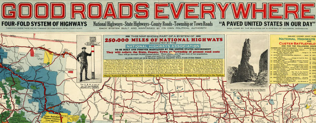 Touring map of the Custer Battlefield Hiway: the scenic route to the west wide thumbnail image