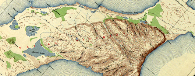 Topographic map of the Island of Niihau, Kauai County, Hawaii  wide thumbnail image