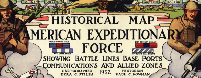 Historical map American Expeditionary Force  wide thumbnail image