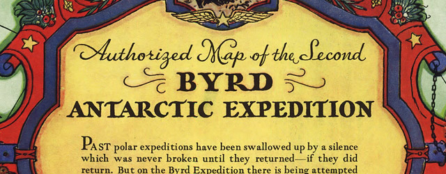Authorized map of the Second Byrd Antarctic Expedition wide thumbnail image