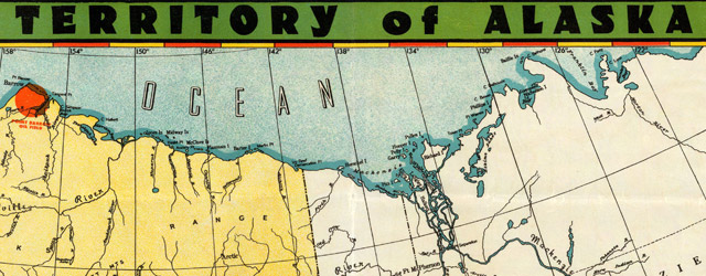 Territory of Alaska. The Alaska Line. The All-American Route wide thumbnail image