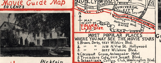 Ragsdale's movie guide map : 1938 latest edition  wide thumbnail image