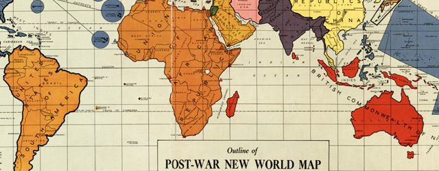 Outline of post-war new world map wide thumbnail image