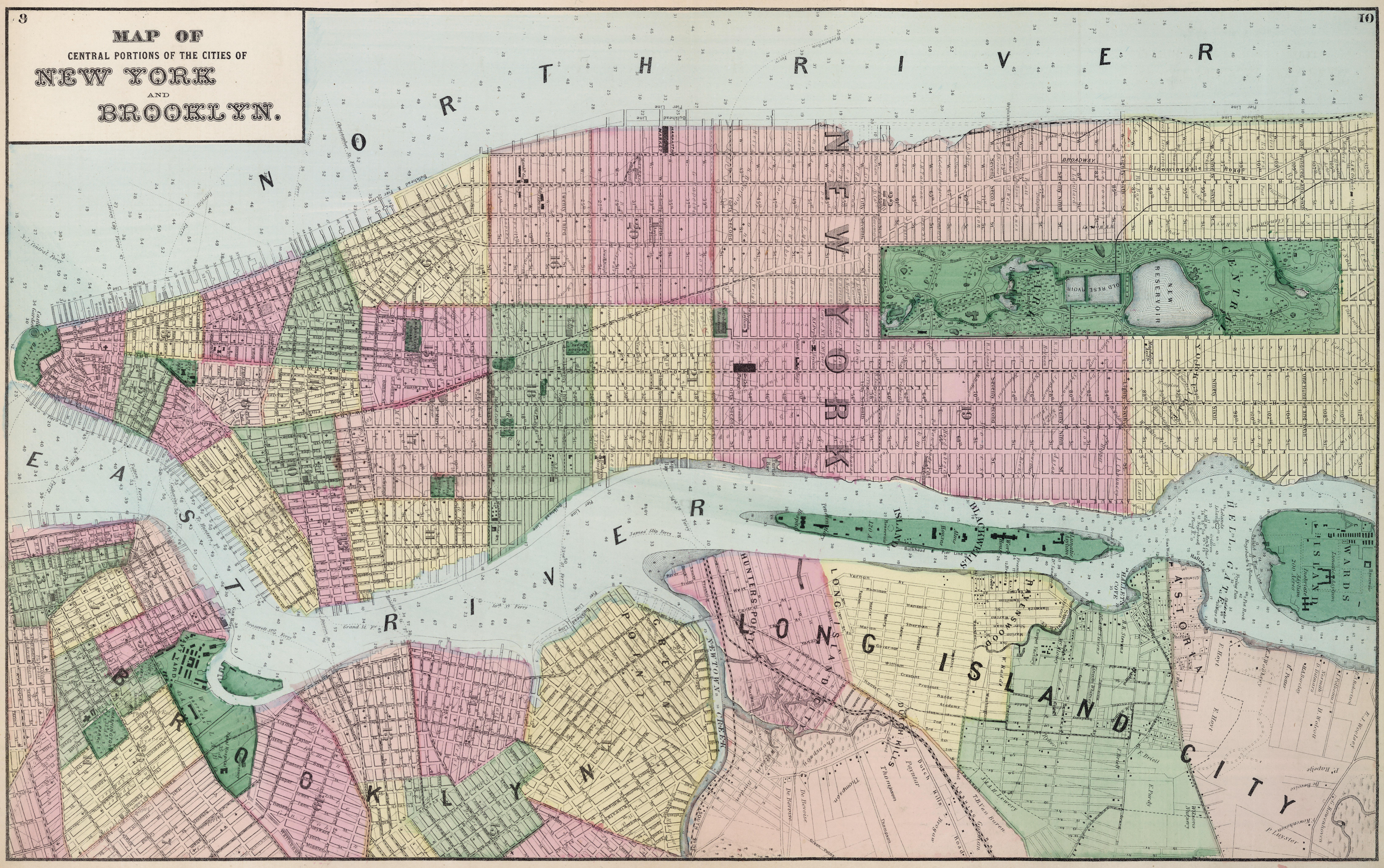Beers street map of New York City 1873 – Street Maps of New York City