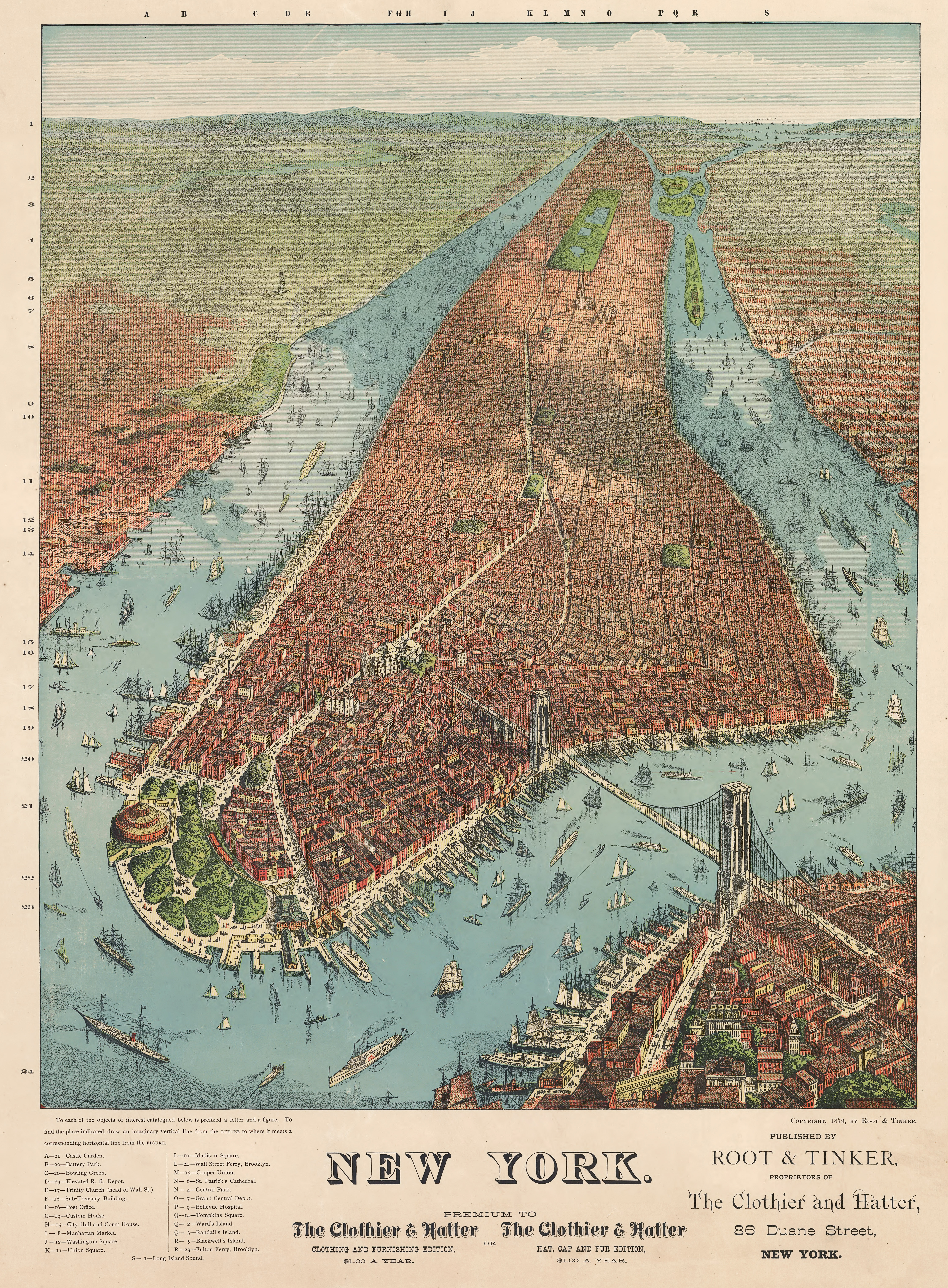 Free downloads of large old New York City maps Mediumrare – Map Manhattan