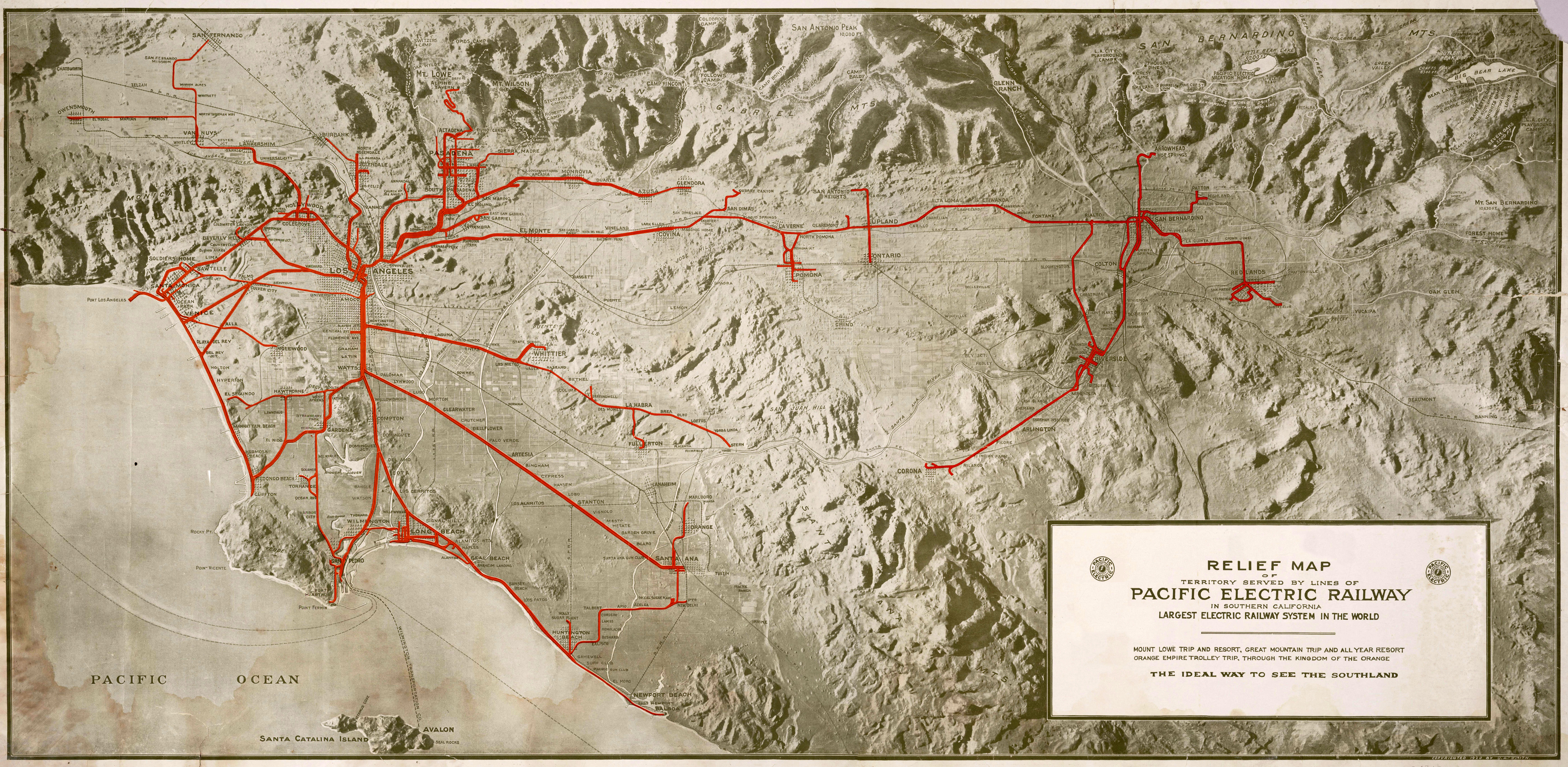 Pacific electric map of los angeles 1920 dwnld full size publicscrutiny Images