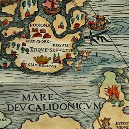 Magnus' map of Scandinavia (1529) image detail