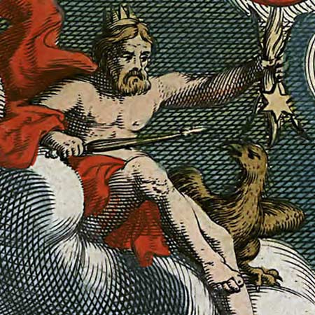 Blaeu's map of the World (1684) image detail
