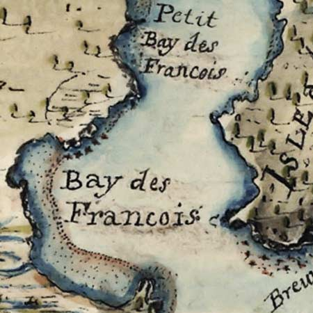 Collins' map of Lake Champlain (1765) image detail