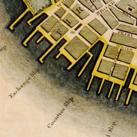 Bridges' survey of New York City (1807) image detail