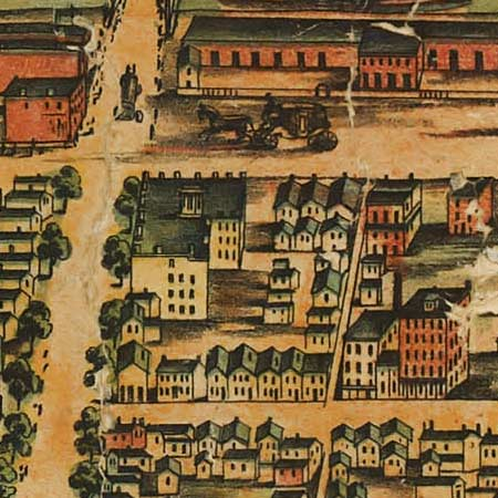 Palmatary's map of Chicago (1857) image detail