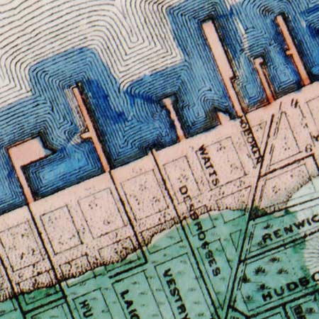 Viele's map of Manhattan (1865) image detail