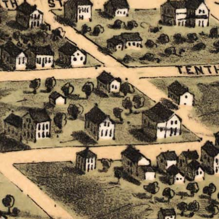 Ruger's map of Alton, Illinois (1867) image detail