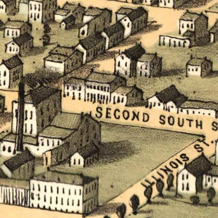 Ruger's map of Belleville, Illinois (1867) image detail