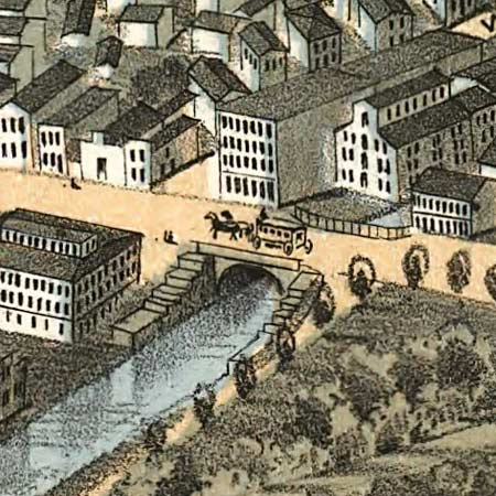 Ruger's map of Dayton, Ohio (1870) image detail