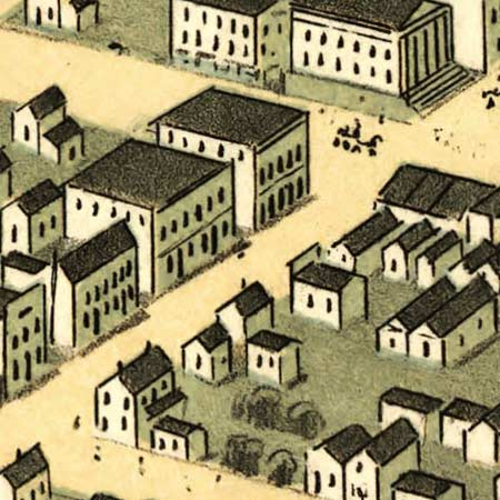 Ruger's map of Huntsville, Alabama (1871) image detail