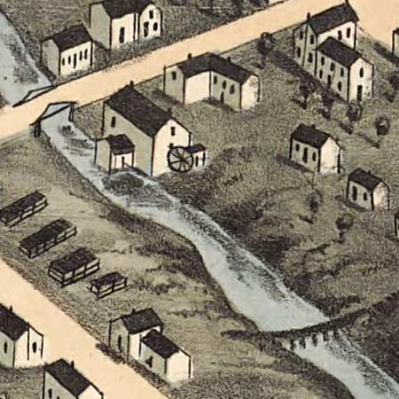 Ruger's map of Knoxville, Tennessee (1871) image detail