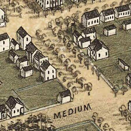 Drie's map of Columbia, South Carolina (1872) image detail