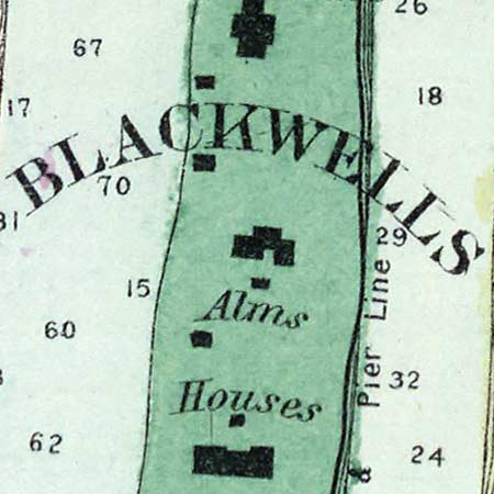 Beers' street map of New York City (1873) image detail