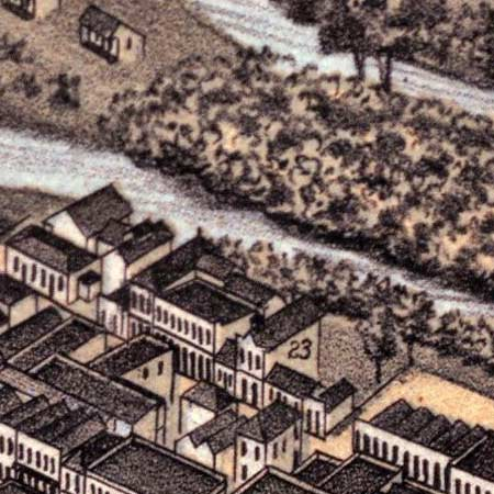 Koch's map of San Antonio (1873) image detail