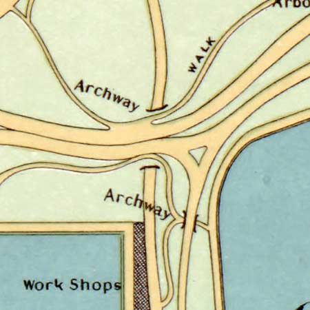Hinrichs' guide to Central Park (1875) image detail