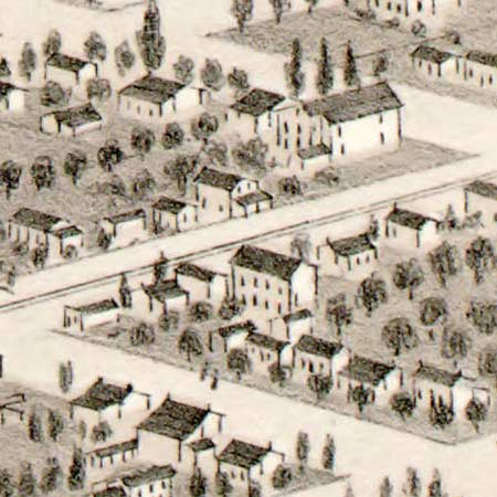 Glover's map of Salt Lake City (1875) image detail