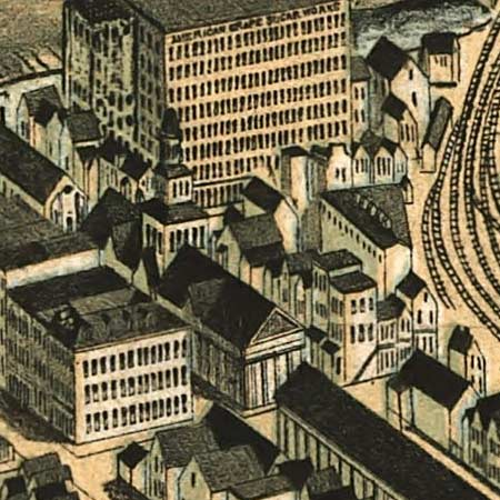 Howard's map of Buffalo, New York (1880) image detail