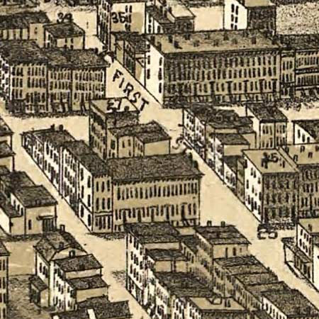Bailey's map of Hoboken, New Jersey (1881) image detail