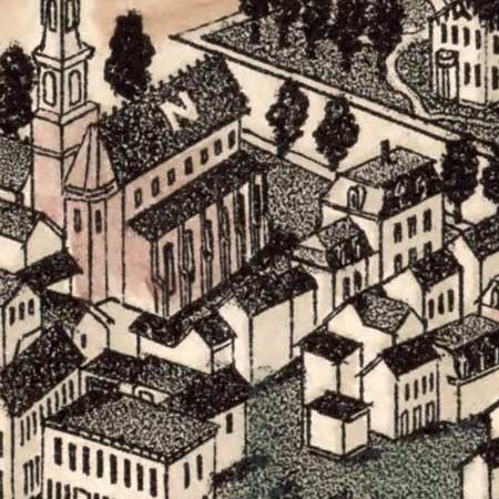 Poole's map of Montpelier, Vermont (1884) image detail