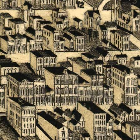 Wellge's map of Duluth (1887) image detail