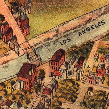 Elliott's map of Los Angeles (1891) image detail