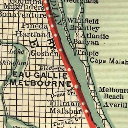 Railroad map of Florida (1893) image detail