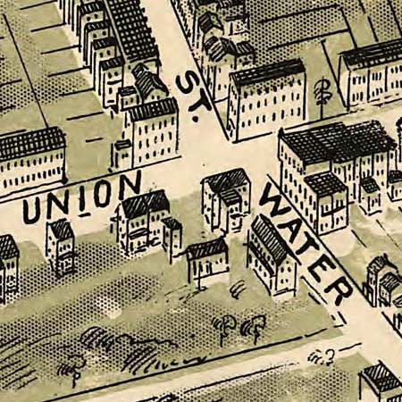 Birdseye map of Allentown, Pennsylvania (1900) image detail