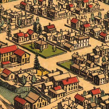 Noe's map of Eureka, California (1902) image detail