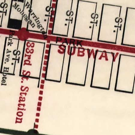 NYC Hotel and Theater map (1906) image detail