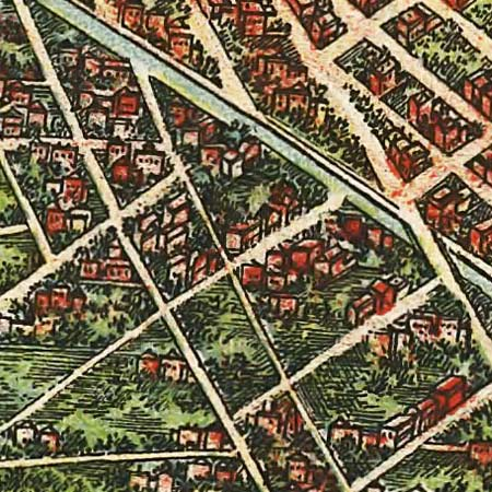Ohman's map of Brooklyn (1908) image detail
