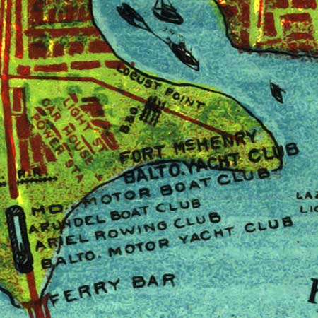 Railway map of Baltimore (1910) image detail