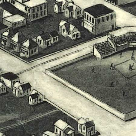 Aero view of Tulsa, Oklahoma (1918) image detail