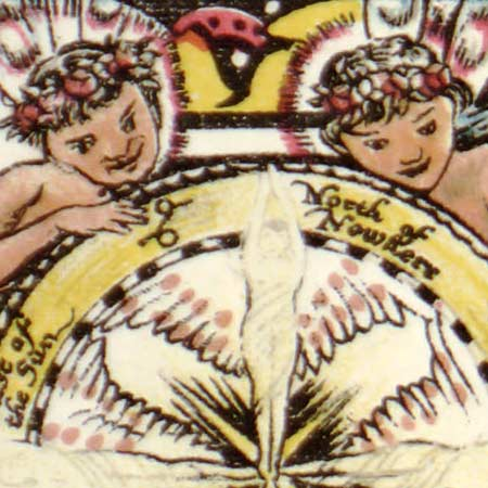 Sleigh's map of Fairyland (1872) image detail