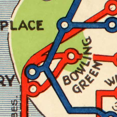 Map of NYC subway routes (1924) image detail