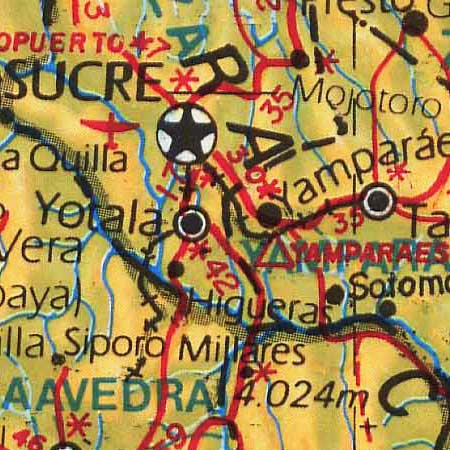 Guzman's map of Bolivia (1974) image detail