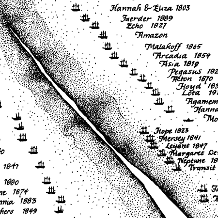 Sable Island: Known shipwrecks since 1583 image detail