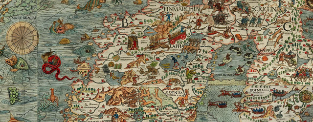 Magnus' map of Scandinavia (1529) wide thumbnail image