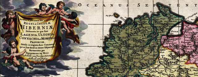 De Wit's map of Ireland (1700) wide thumbnail image